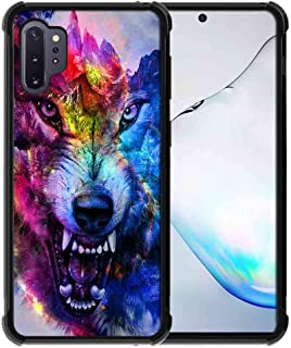 for Samsung Galaxy Note 10 Plus Case/Galaxy Note 10 Plus 5G Case Space Galaxy Nebula Wolf Pattern, ABLOOMBOX Slim Thin Ant...