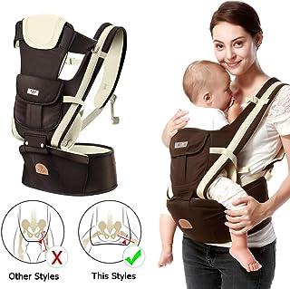 Rose SONARIN 3 en 1 Multifonctions Hipseat Baby Carrier Porte-b/éb/é,9 positions de transport,Grande Poche,Ergonomique,adapt/é /à la croissance de votre enfant,100/% Infinity Garantie,Id/éal Cadeau