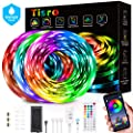 Led Lights for Bedroom 50ft, Waterproof Led Strip Lights with Bluetooth App Control + 44 Keys Remote, Music Sync Color Changing RGB Led Light Strips for Bedroom, Christmas, Home Decoration, Party, TV