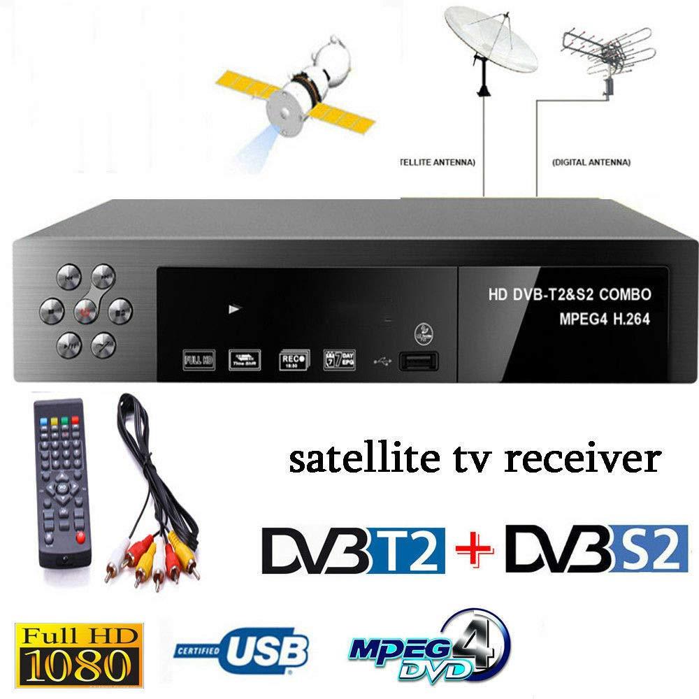 Amazon Com Leoie Smart Digital Satellite Tv Receiver Dvb T2 Dvb S2 Fta 1080p Decoder Tuner Mpeg4 Electronics