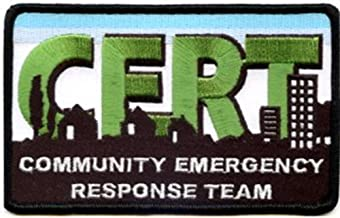 CMS, Inc. SSPAT-23-10 Small CERT Embroidered Patch - 10 Pack