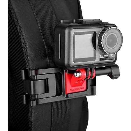 Cinturino Holder Clip con Rotazione di 360/Gradi Regolabile per GoPro HERO7/HERO6/HERO5/4/SJCAM Azione Xiaomiyi Accessori della Fotocamera OOOSUE Zaino Tracolla Supporto