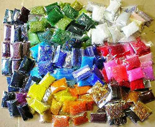 Perlin 2,8 Kilo 140 Packungen ROCCAILLES Set GLASPERLEN 2 3 4 6 mm ROCAILLES Stift RUND Seed Beads