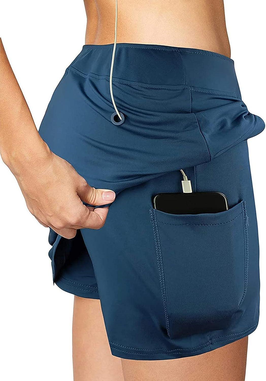 Regular dealer FlekmanArt Women's Running Training Free shipping on posting reviews Shorts Double 2in1 Qui Layer