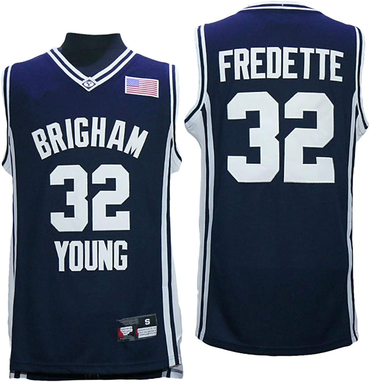 Lusam feeling BYU Brigham Young University Cougars Jimmer Fredette 32 College Basketball Jersey Navy