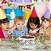 Herefun Festa A Tema. Avere 64 Stoviglie USA e Getta, Piatti di Carta Avvolti, Bicchieri di Carta, Cannucce, Forchette, Corno, Tovaglie. Festa di Compleanno per Bambini, Matrimonio, Picnic (C) #3
