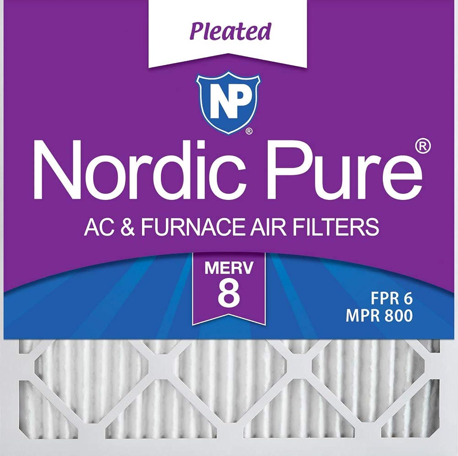Nordic Pure 20x20x1 MERV 8 Pleated AC Furnace Air Filters, 20x20x1M8-6, 6 Pack bwiwdfloojbst0