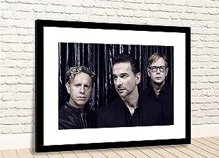 "Print Depeche Mode British Music Band Framed Photo (24"" X 18"" Black Fr/White Mt)"