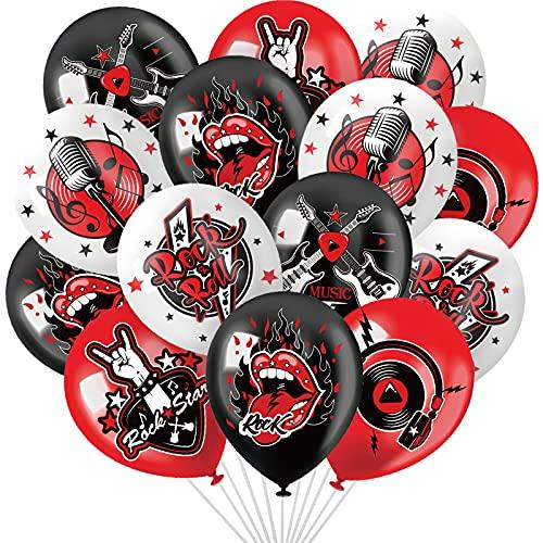 54 Stücke Rock'n'Roll Party Dekoration Zubehör 12 Zoll Musik Thema Ballons Jungen Mädchen Baby 1. Geburtstag Party Zubehör 50er 60er Rock Party Gunst
