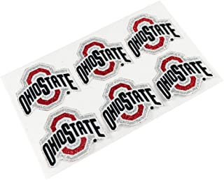 EyeBlack Ohio State Buckeyes NCAA Glitter Decals, Perfect for Game Day and Tailgate, 6 Decals