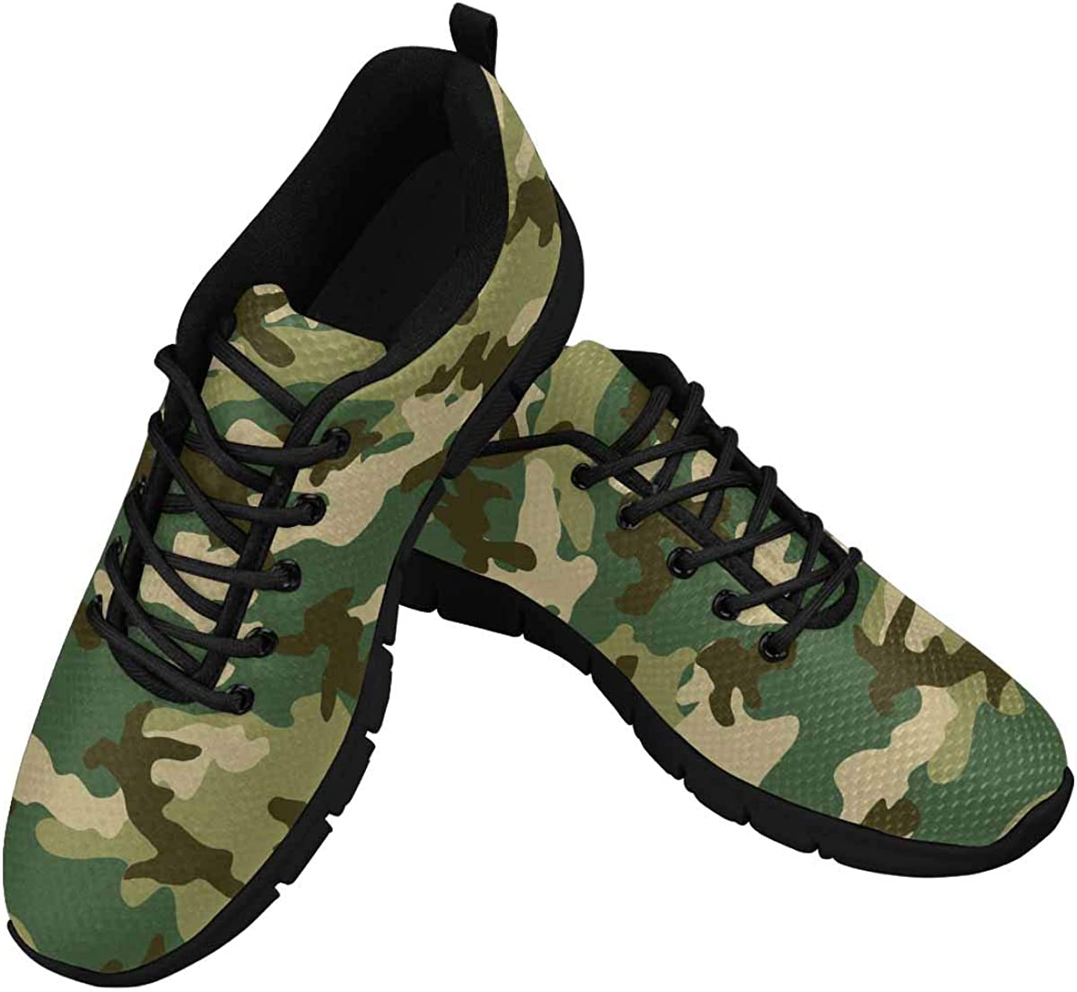 InterestPrint Military and Hunting Camouflage Pattern Women's At