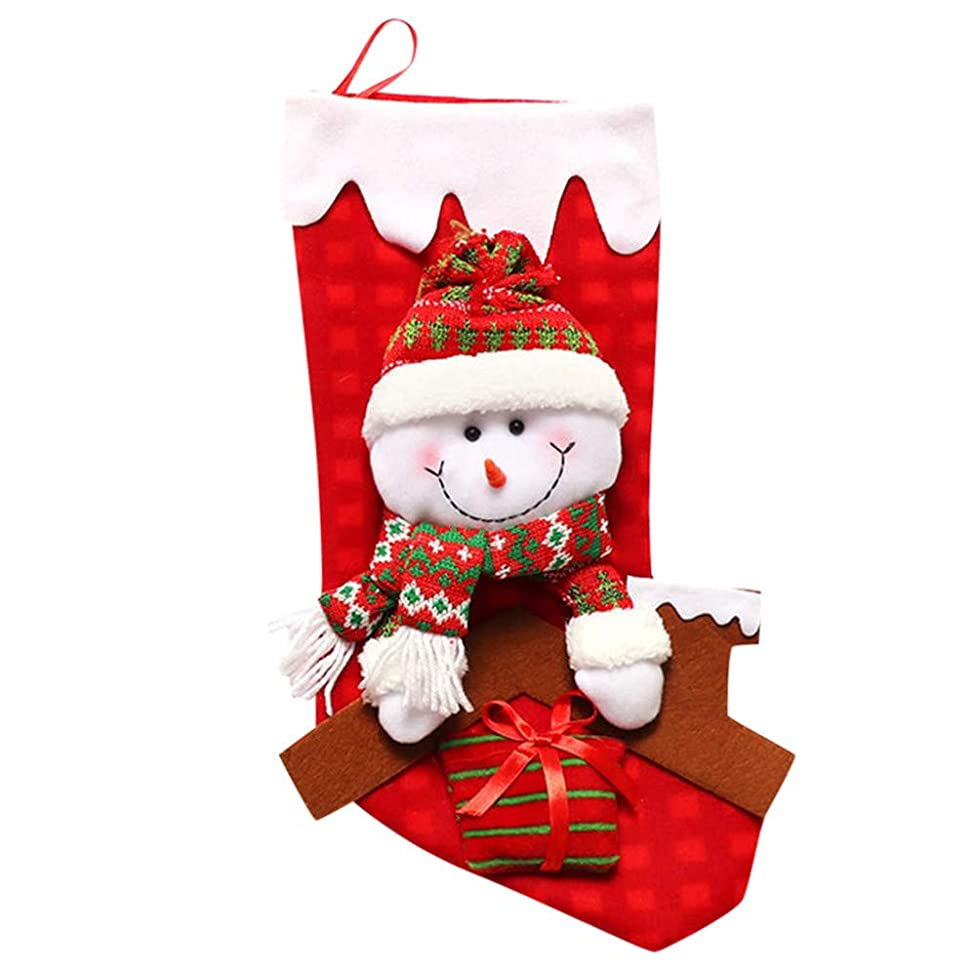 Hongxin Christmas Tree Hanging Ornament,Christmas Stocking Candy Gift Bag Year Gift (C, About 38×22CM)