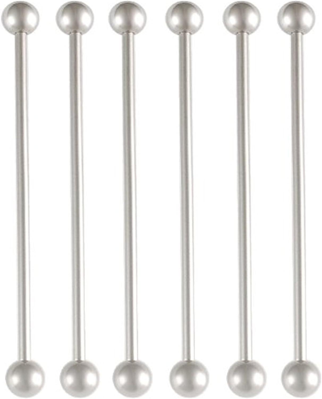 bodyjewellery Industrial bar Balls Barbells Set Cute 14G 14 Gauge 1.6mm 45mm Surgical Steel Ear Plugs AFJZ Piercing Set of 6