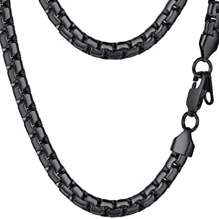 Stainless Steel Flat Box Chain Necklace,...