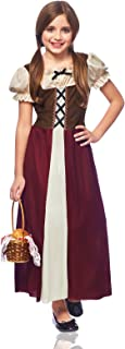 Costume Culture Peasant Girl Child Costume, Burgundy, Small