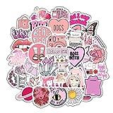 BLOUR Dibujos Animados Pink Ins Style Girl Stickers para Laptop Skateboard Equipaje Refrigerador Notebook Laptop Toy Sticker F5 50pcs