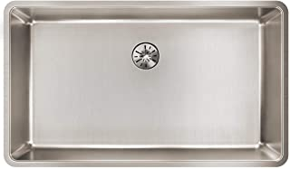 Elkay Lustertone Iconix ELUHH3017TPD Single Bowl Undermount Stainless Steel Sink with Perfect Drain