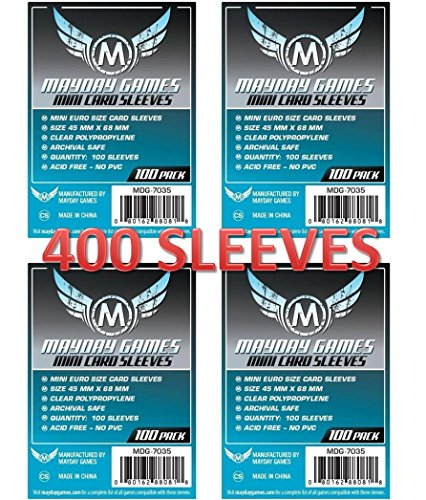 Mayday Games Mini Euro Card Sleeve 45 MM X 68 MM (4x100 Pack, 400 sleeves)