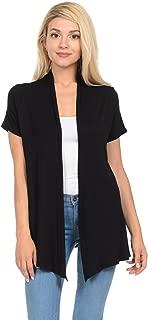 Women's Short Sleeve Open Front Vest (15+ Colors/S-3XL)
