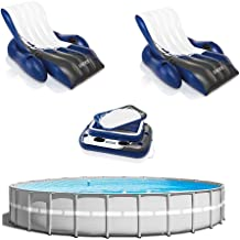 Intex 26ft x 52in Above Ground Pool w/Inflatable Loungers and Floating Cooler