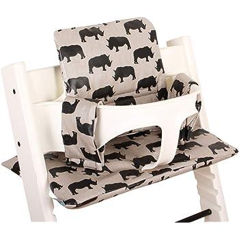 Coussin Chaise Haute pour Stokke Tripp Trapp Facile /à nettoyer /♥ Gris rhino
