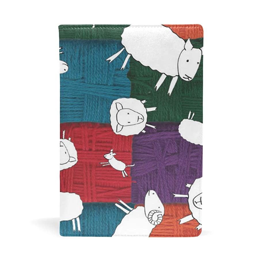 どれでもリビングルーム醜い羊 カラフル ブックカバー 文庫 a5 皮革 おしゃれ 文庫本カバー 資料 収納入れ オフィス用品 読書 雑貨 プレゼント耐久性に優れ