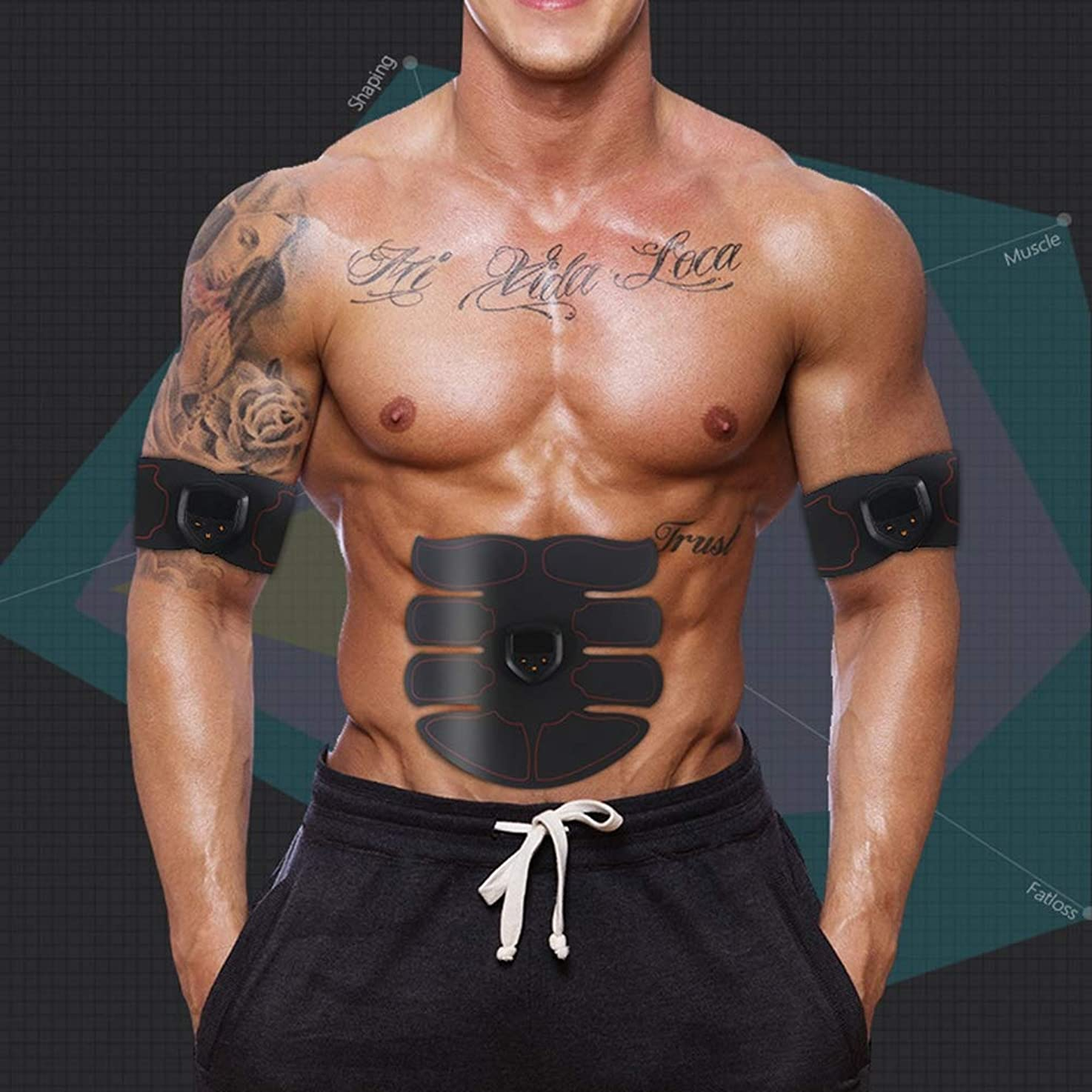 意味のあるグローバルクロールスマート腹部usb充電式筋肉刺激装置ems absトレーナー減量機フルウエストスポーツマッサージャーユニセックスフィットネス機器