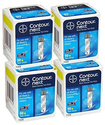 PACK OF 4 - BAYER CONTOUR NEXT TEST STRIP 50EA by Contour-Next