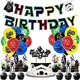 Wang Shin 24 stücke Planet Kuchen Thema Dekoration Geburtstag Erhöhte Flagge Kuchen Haut Ballon Spiel Themen Set