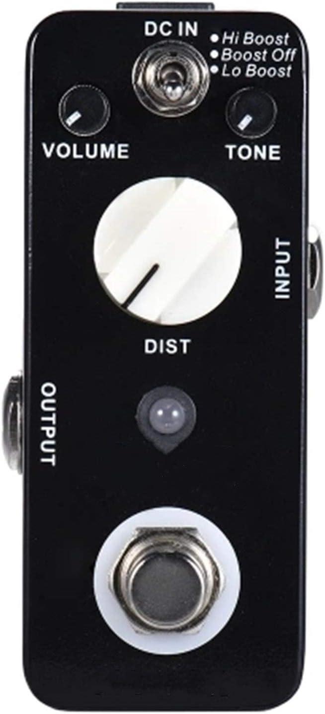 Pedal de Guitarra Distorsión de Metal Efecto de Guitarra Pedal 3 Modos Verdadero DESPUÉS DE Metal Completo para Guitarra Eléctrica (Color : Black, Size : 3.5 x 9 x3cm)
