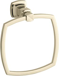 Kohler K-16254-AF Margaux Towel Ring, 1, Vibrant French Gold