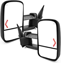 ZiSD Towing Side Mirrors Compatible for Chevy Chevrolet Silverado GMC Sierra Tow Mirrors 2003-2007 Power Heated with Arrow Signal Light Truck Side Mirror(1 Pair)