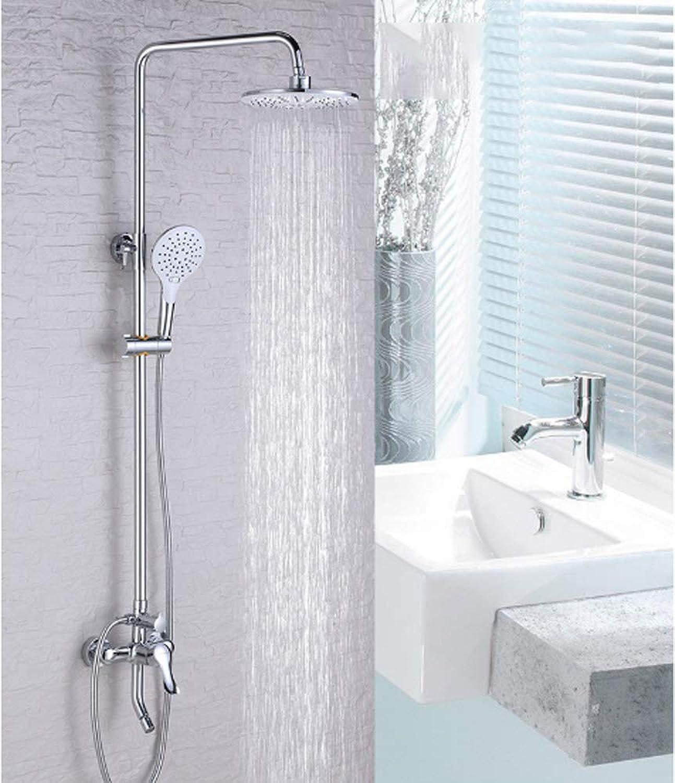GXQLYHS Badezimmer-Set, Feste Sprinkler Handheld-Dusche-Set, Rotary verstellbare Dusche, Dusche Shift Lifting Rod - Kupfer, Haus Fitnessraum