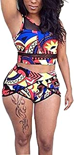 Swimsuits for Women African Print High Waisted Bikini Set Two Piece Bathing Suits