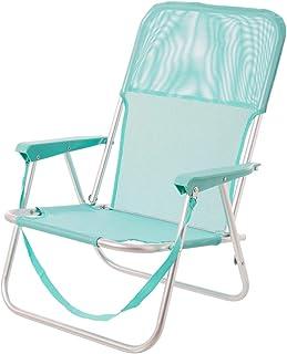 LOLAhome Silla de Playa Fija de Aluminio y Textileno (Aguamarina)