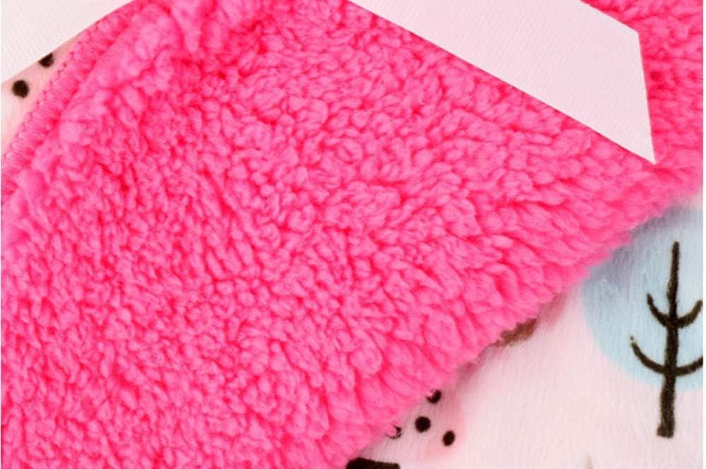 Couvertures bébé Nouveau Thicken double couche molleton Enveloppe Wrap Hibou imprimé du nouveau-né Couverture Literie de bébé (Color : Blue) Purple