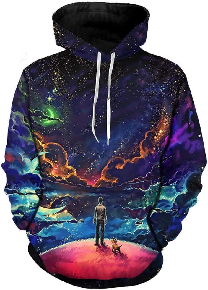 LUO 3D astronaute impression et sweats à capuche drôle Sweat-shirt hommes plus la taille 3D Pull Tops Streetwear,* L M