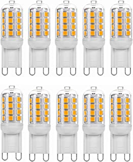 SGJFZD 4W G9 LED Light Bulb 40W Equivalent 3000K/6000K 400 Lumen No-Flicker Non-Dimmable G9 Ceramic Bi Pin Base for Chande...