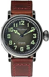 New Men's Pilot Retro Watch Stainless Steel Diving Watch 300mWater Resistant PT5000 Movement Wristwatch Sapphire Glass
