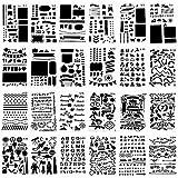 BUZIFU 24 Stücke Zeichenschablonen Kunststoff Schablone Malerei Dekoration Vorlagen Geschenk
