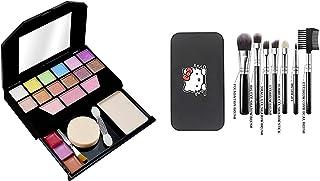 PRO TYA Makeup Kit For Girls + Hello Kitty 7 pcs Makeup Brushes For Girls (5024 + HK)