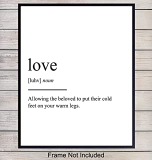 Love Definition Wall Art, Home Decor - Funny Poster, Print - Unique Room Decorations - Romantic Gift for Wedding, Bridal Shower, Bride, Anniversary, Newlyweds, Woman, Women, Her, Girlfriend - 8x10