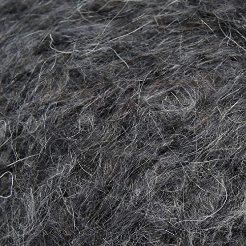 ggh Mojave, Farbe:002 - Dunkelgrau, Baumwolle, Mohairwolle Mischung, 50g Wolle als Knäuel, Lauflänge ca.150m, Verbrauch 300g, Nadelstärke 5-6, Stricken
