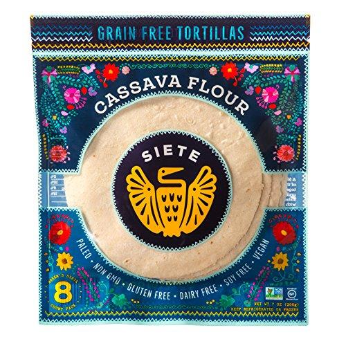 Siete Cassava Flour Grain Free Tortillas, 8 Tortillas Per Pack, 3-Pack, 24 Tortillas
