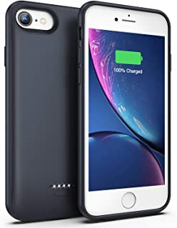 Lonlif Battery Case for iPhone 7/8, 4000mAh Portable Protective Charging Case Compatible with iPhone 7/8 (4.7 inch) Rechargeable Extended Battery Charger Case (Graphite Black)