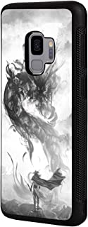 Galaxy J2 Core Case,J2 (2019) Case,J2 Dash Case,J2 Pure Case,J260 Case, Slim Anti-Scratch TPU Rubber Protective Case Cover for Samsung Galaxy J2 Core - Chinese Style Ink Painting Dragon