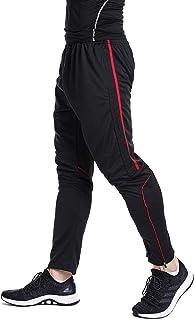Men's Sweatpants Track Soccer Training Pants Active Jogger Pants Slim Fit Trousers Striped Zipper...