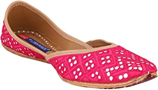 MSC Leather Ethnic Meg Flat Bellie for Women