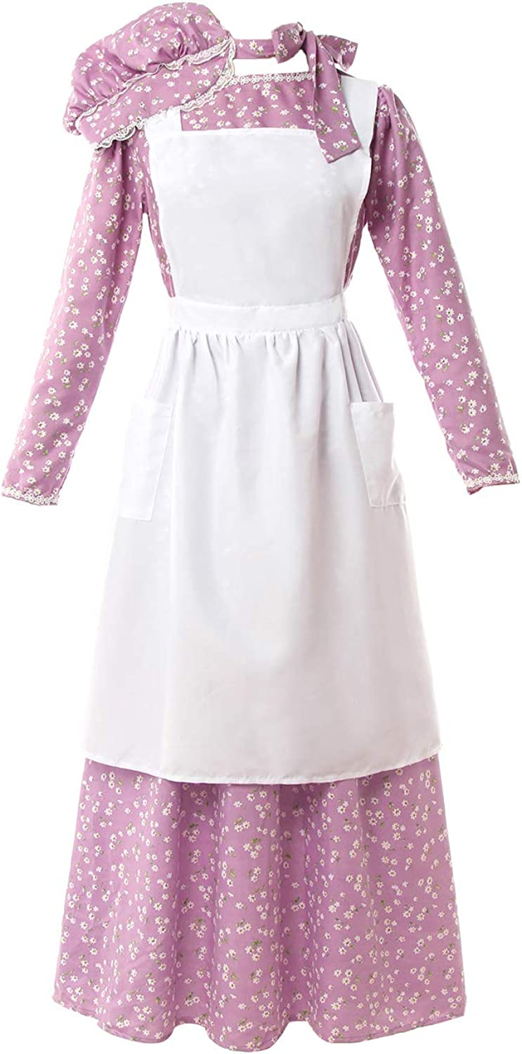 NSPSTT Women American Pioneer Colonial Safety and trust Manufacturer direct delivery Prair Costume Dress Girls