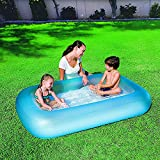 DISHIN SWAMEY Inflatable Play Centre Kiddie Spray Wading Swimming Pool with Water Slide Tubs for Kids Adults with Electric Air Pump